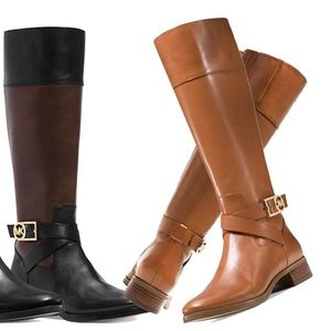 MICHAEL Michael Kors Bryce Leather Riding Boot